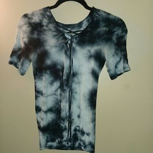 American Eagle Outfitters tie dye tie up shirt